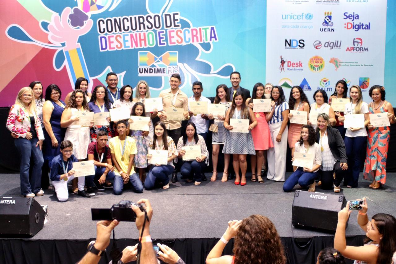 Estudantes de 12 cidades vencem concurso promovido pela Undime-RN
