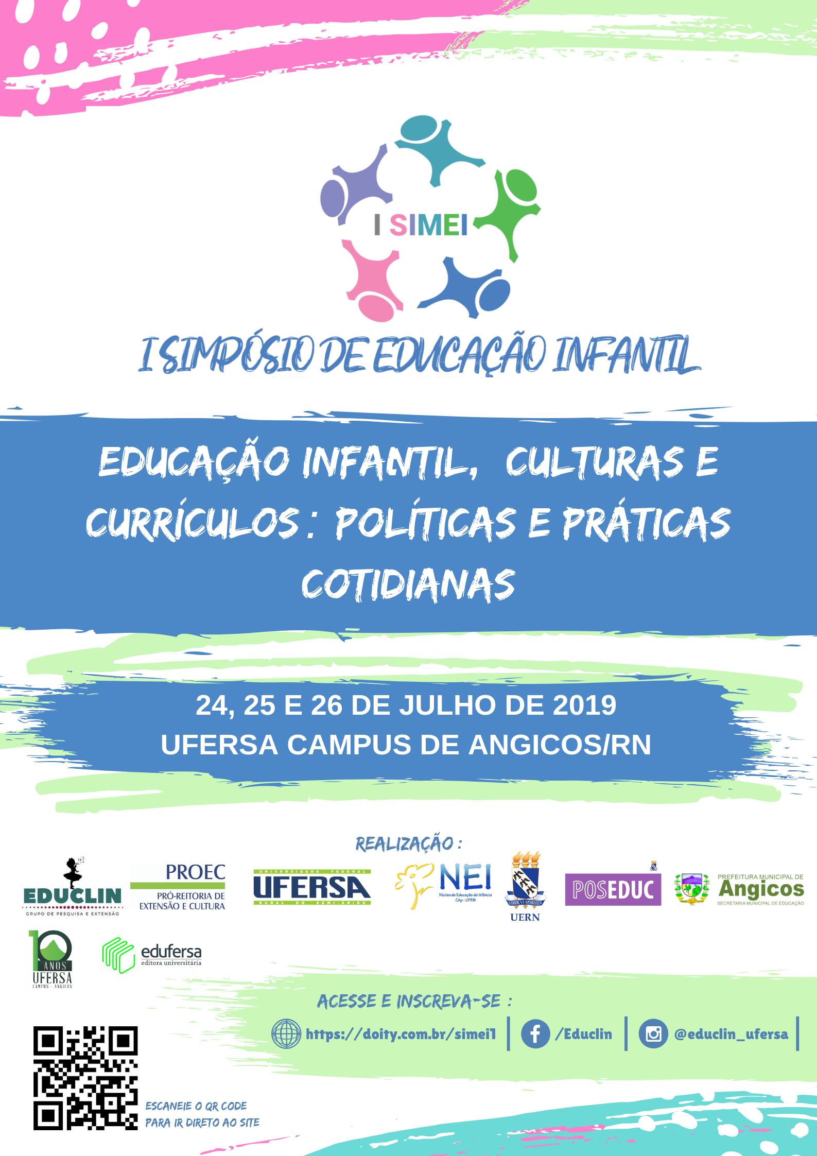 Ufersa abre inscrições para I Simpósio de Educação Infantil