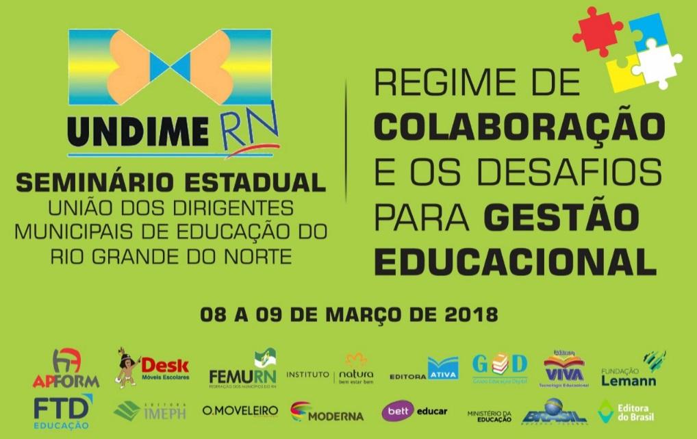 Seminário Estadual no RN vai discutir regime de colaboração