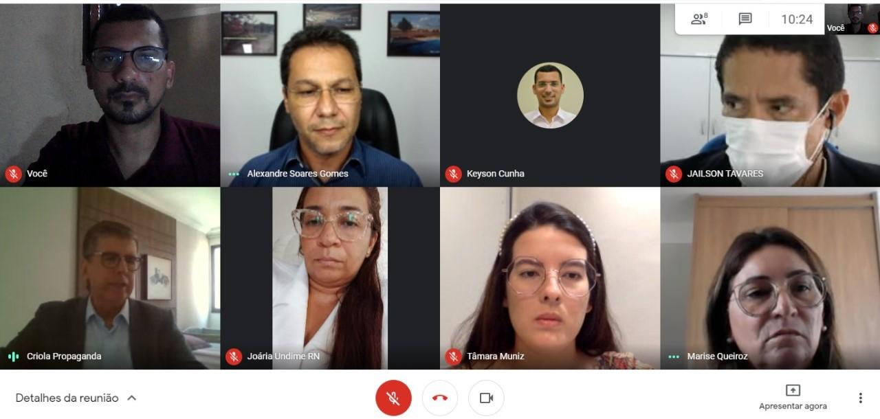 Em reunião web UNDIME-RN trata sobre pauta da educação com o TCE-RN